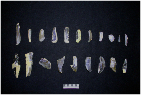 Photograph of a collection of flints