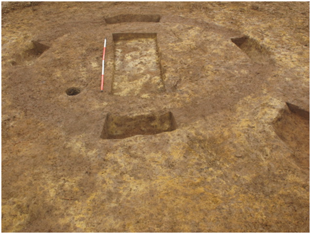 excavation of a sub-circular feature at Port Salford, Greater Manchester