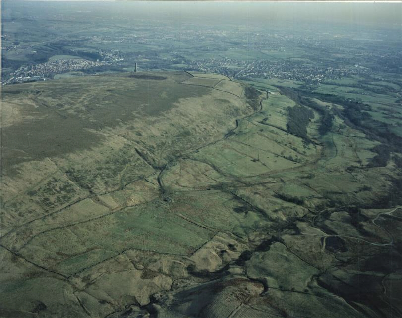 Aerial photograph showing Holcombe Moor